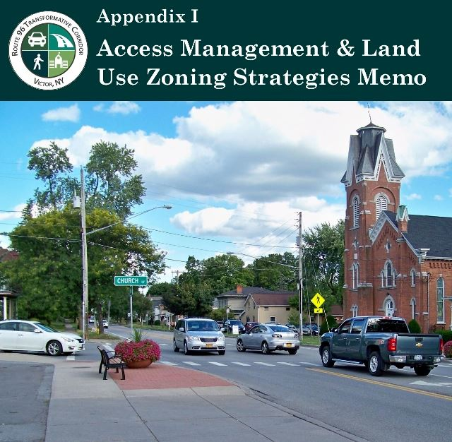 Cover of Appendix I-Access Management showing cars on main street