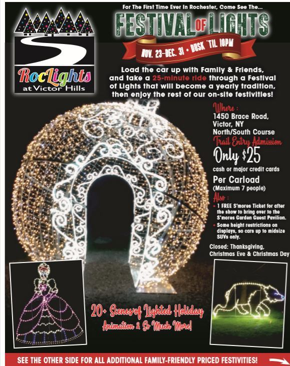 Festival of Lights flyer ornament shape with lights