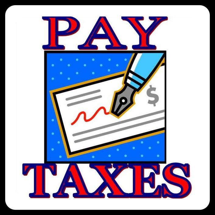 Pay Taxes clipart of pen on check