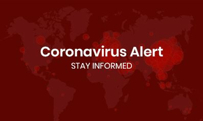 Coronavirus Alert red background